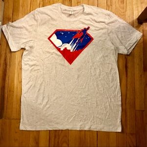 Tri-blend Superman t-shirt size XXL nwt